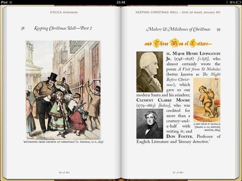 iPad image from 'Keeping Christmas Well' (pp58-59)