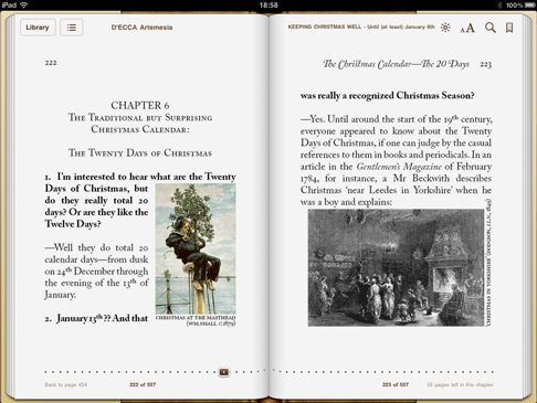 iPad image from 'Keeping Christmas Well' (pp222-223)