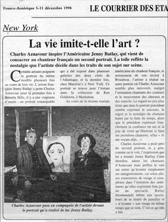 Newspaper article: La vie imite-t-elle l'art?